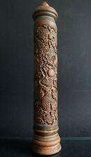 Porte encens brule parfum bois dragon Chinois Old chinese wooden censer XIX