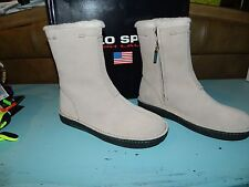 Ralph Lauren Polo Sport Suede Leather Shoes Boots Womens Size 6B