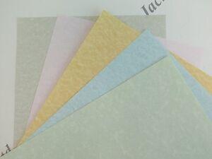 50x Parchment Paper Pastel A4 90gsm Pick of 4 Colours Certificates Arts & Crafts