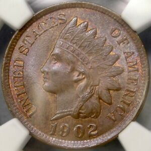 1902 INDIAN HEAD CENT/PENNY SCARCE SNOW #11 FINEST KNOWN?? BLAZER NGC MS 65 BN