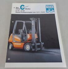Brochure Boss Steinbock Forklift c 16 - C 33 Diesel Treibgasstapler1,6-3,3 t