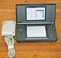 Nintendo DS Lite BLACK USG-001 Handheld Console with Charger & Stylus