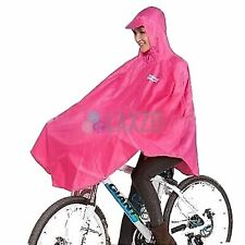 Rain Coat Cover Poncho Bicycle  Cycling Nylon Poncho PINK