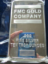 FMC Freeport McMorman Copper & Gold Co. 10 oz. 999 fine Silver Bar / Ingot RARE