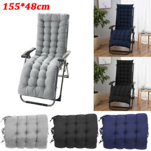 Cushion Pads Replacement For Garden Sun Lounger Recliner Chair Cotton Seat Pad
