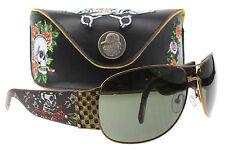 NEW Ed Hardy Sunglasses EHS 019 Cocoa COCOA