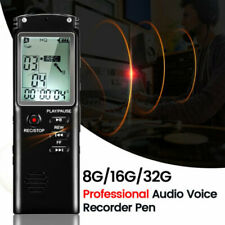 8/16/32GB Voice Recorder Digital Sound Audio Dictaphone Rechargeable MP3 Player