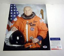 JOHN GLENN SENATOR MERCURY ASTRONAUT SIGNED AUTOGRAPH 11X14 PHOTO PSA/DNA COA #1