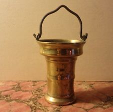 Gothic 15th C. Flemish Brass Holy Water Pail Rare Bronze