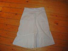 BNWT Ladies MATERNITY White Roll Top Linen Blend Skirt Size 12