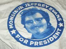 Monsieur Jeffrey Evans For President T-shirt Gibson Bros 68 Comeback CC Rider XL