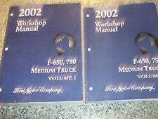 2002 Ford F-650 750 Medium Truck Service Shop Repair Manual Set 02 FACTORY