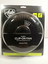 Auto Drive Vehicle 12 volt 6 in car clip on or dash mount fan in black
