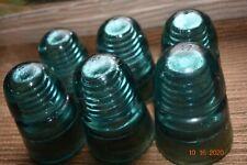Antique/Vintage Glass electric insulators, H.G.CO., Lot of 6