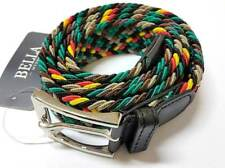 Cinta Cintura Uomo Intrecciata Multicolore Giamaica Glamour Fashion Moda hac