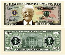 100 Donald Trump President Money Fake Dollar Bills 2017 Fed Inaugural Note Lot