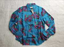 NEW WOMEN'S 10 14 20 J CREW COLLECTION SILK TWILL SHIRT IN LOBSTER PRINT