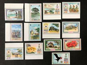 Anguilla #145-157 1972-75 MNH