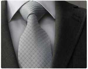 Herren Qualitäts-Krawatte handgefertigt grau, handmade tie PD-8276