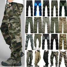 Men Tactical Army Combat Military Cargo Work Multi Pocket Casual Pants Trousers
