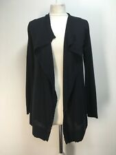 NEW Zadig & Voltaire Daphnee navy cashmere cardigan open waterfall XS