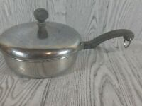 Farberware 1 Qt Sauce Pan Pot Stainless Steel Aluminum Clad NYC USA W/ Lid