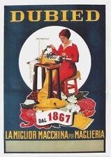 Original vintage poster DUBIED SWISS KNITTING MACHINE 1951