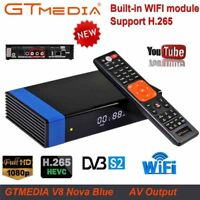 GTMedia V8 Nova blue DVB-S2 H.265 decoder HD satellite receiver built-in WIFI