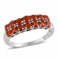 Jalisco Mexican FIRE OPAL Band Style RING in Platinum / Sterling Silver 1.25 Cts