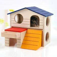Lovely Rat House Wooden Hamster Ladder Pet Small Animal Rabbit Mouse Hideout
