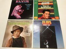 4 ELVIS LP'S: MOODY BLUES; FUN IN ACAPULCO; ELVIS COUNTRY; ELVIS RAISED ON ROCK