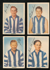 1954 Kornies Champion Footballers North Melbourne Team set 4 cards