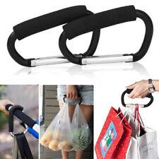 2X Universal Buggy Mummy Clip Pram Pushchair Shopping Bag Hook Carabiner Holder