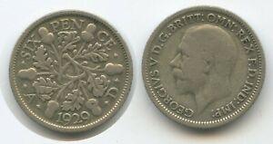 G2221 - Großbritannien Six Pence 1929 KM#832 George V. Silber Great Britain