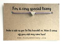 """""""For A Very Special Nanny"""" Silver Heart Message Card Wish Bracelet Gift Xmas"""