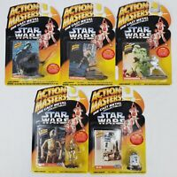 NEW LOT of 5! Star Wars Action Masters Die Cast Metal Collectibles Figure Kenner