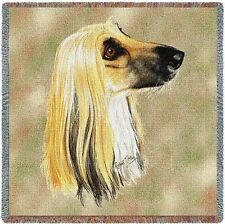 Lap Square Blanket - Afghan Hound by Robert May 1170