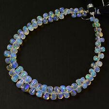Fine Ethiopian Welo Opal Plain Teardrop Briolette Beads 8.2 inch Strand