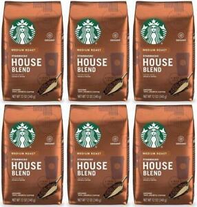 6 PACK Starbucks House Blend Ground Coffee 12oz each Best Before 2/2021