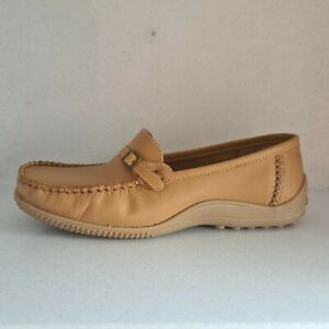 Womens Bottero Soft Leather Tan Buckle Trim Driving Shoes Loafers UK4.5 US7 New