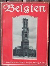 5975 Walther Stein BELGIEN sonst und jetzt, Beschreibung mit 200 Fotos, 1915, EA