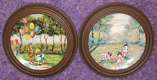 2 COLLECTOR PLATES BY DOMINIC JOHN MINGOLA - BALLOON MAN & PICKING FLOWERS 1977
