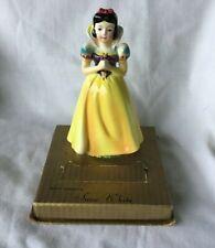 *Vintage Walt Disney Snow White Ceramic Watch Statue & Bottom of Box