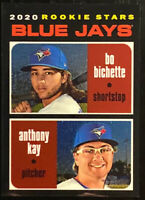 🔥 2020 BO BICHETTE And ANTHONY KAY RC /999 Topps Heritage Black Chrome Parallel