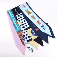 Scarf Tie Band Fashion Women Silk Head Hair Band Wraps Bag Ribbon Scarf 9*86cm