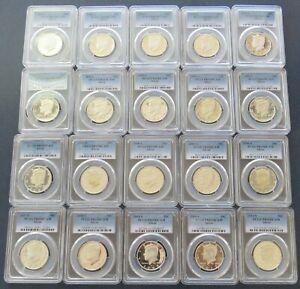 (20) 1992 - 2011 S Kennedy Silver Half Dollar Proof Coin Set - PCGS PR69DCAM