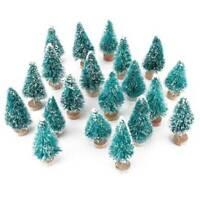 12x Mini Sisal Christmas Trees Ornament Snow Frost Small Pine Tree XMAS Decor