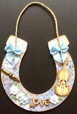 Handmade Susie Luxury Wedding Horseshoe Keepsake Or Card Topper FLAT RATE UK P&P