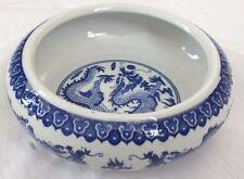 Dragon chinois L Blanc Céramique Bonsai JARDINIERE Peinture Brosse lavage assiette japonais