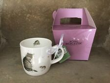 Wrendale Designs Cat and Mouse bone china mug